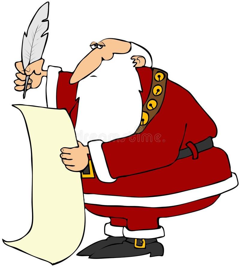 La liste de Santa illustration stock