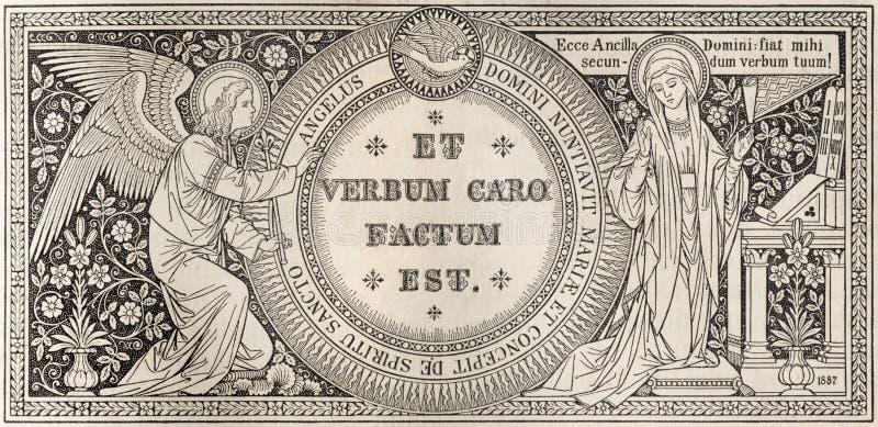La litografía del anuncio fotografía de archivo libre de regalías