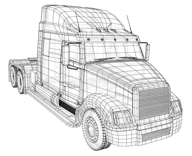 La livraison commerciale Illustration de découverte de 3d Format de vecteur d'ENV 10 d'isolement sur le blanc illustration libre de droits
