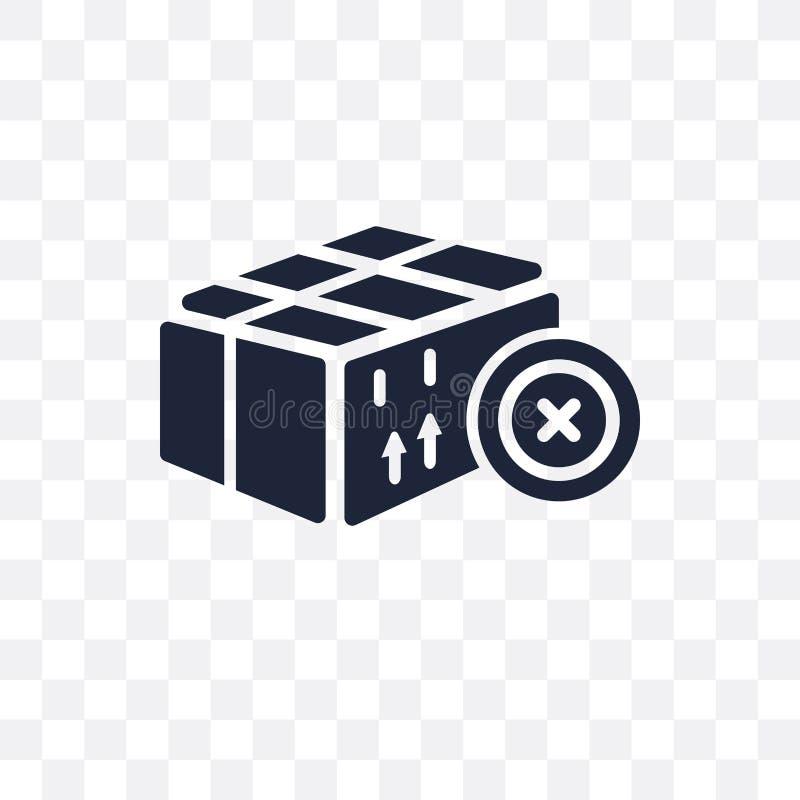 La livraison a décommandé l'icône transparente Symbole décommandé par livraison d illustration stock