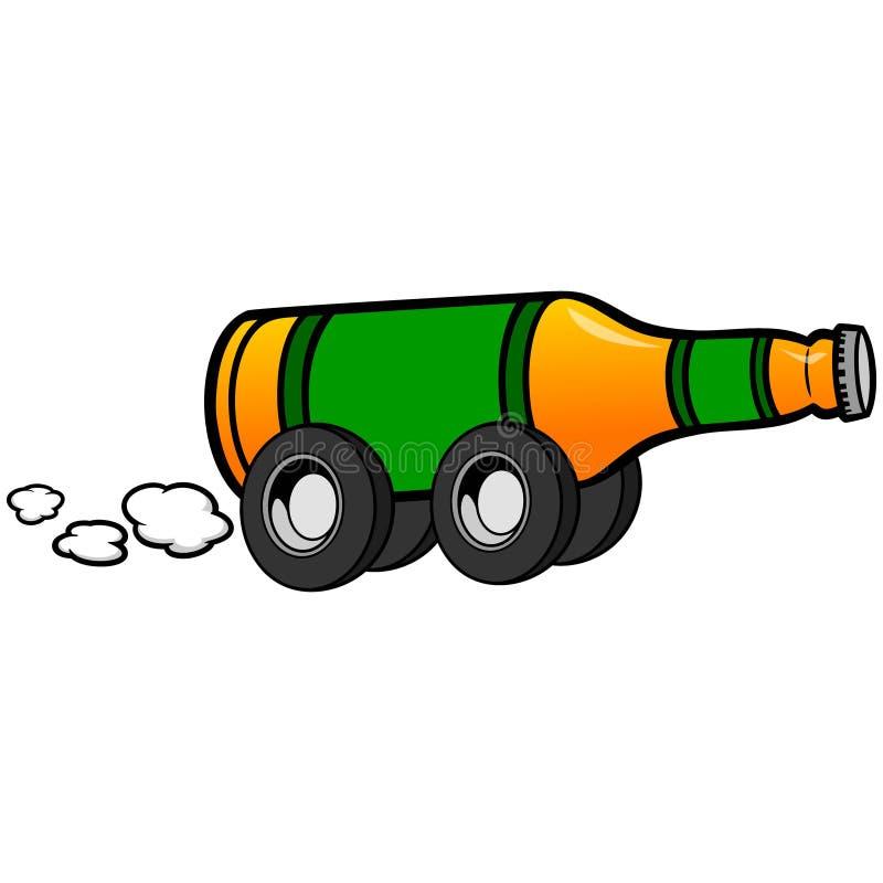 La livraison de bière illustration libre de droits
