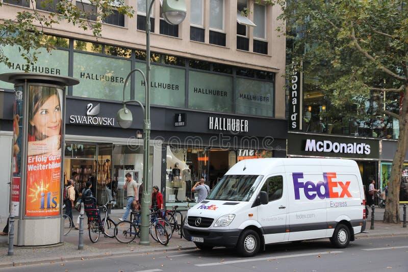 La livraison de Fedex photographie stock libre de droits
