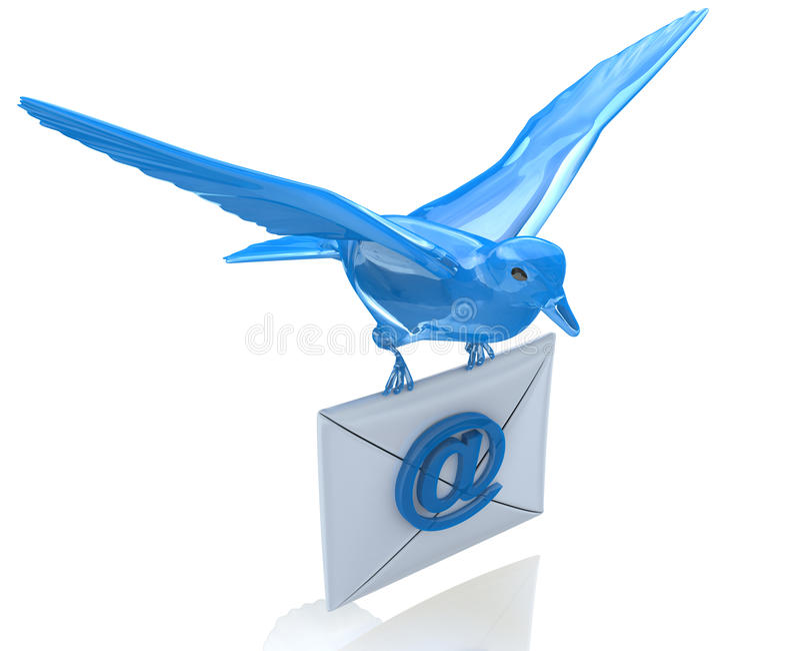 La livraison de l'email illustration libre de droits
