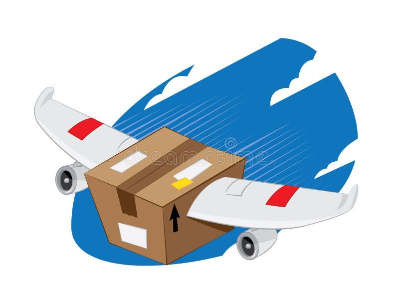 La livraison express à ailes de paquet illustration stock