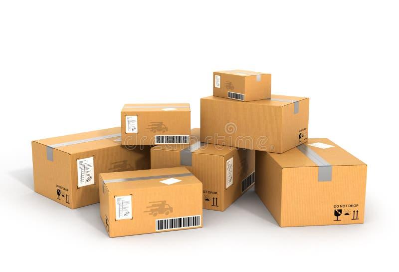 La livraison globale de paquets illustration stock