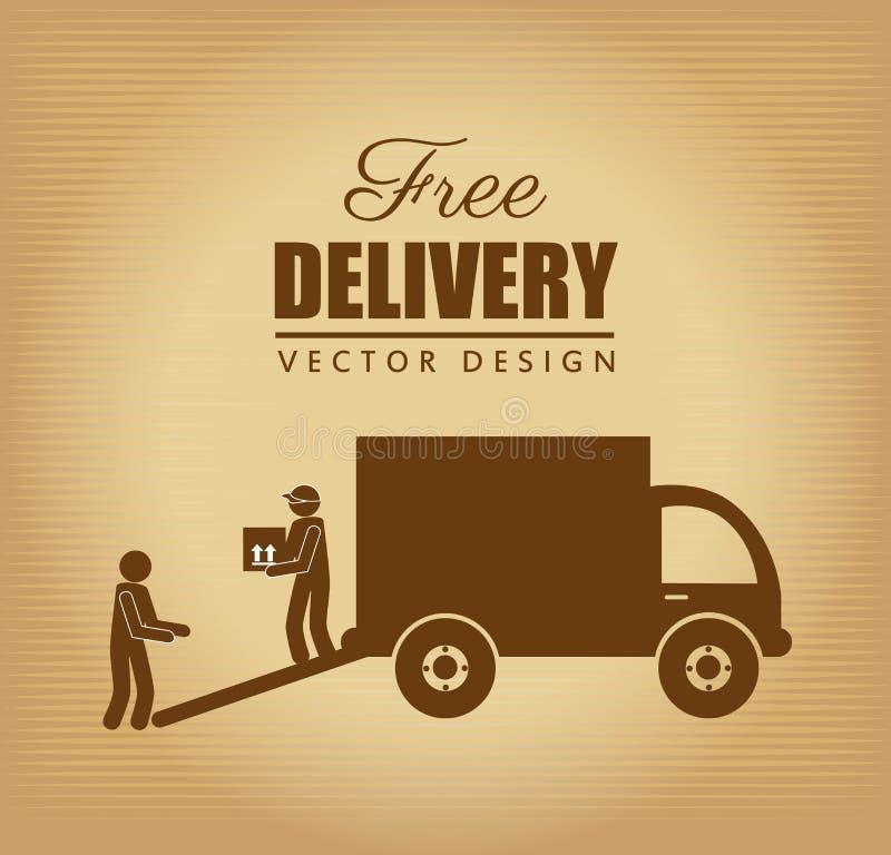 La livraison gratuite illustration de vecteur