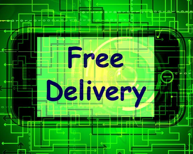 La livraison gratuite au téléphone ne montre aucune charge ou la livre gratuitement illustration libre de droits