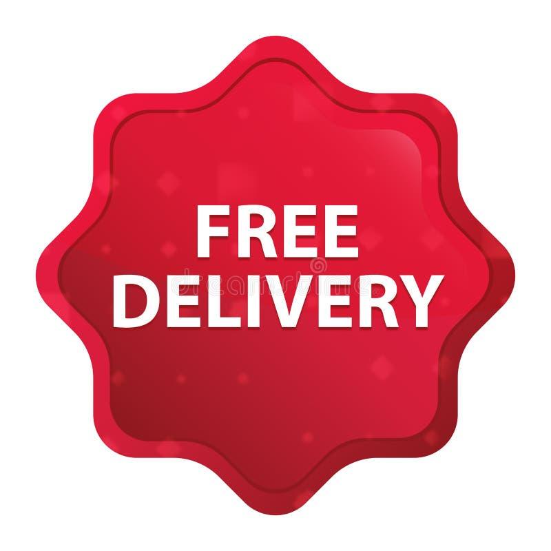 La livraison libre brumeuse a monté bouton rouge d'autocollant de starburst illustration libre de droits