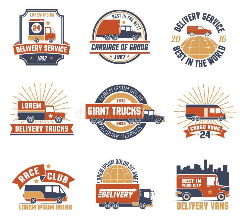 La livraison Logo Emblem Set illustration libre de droits