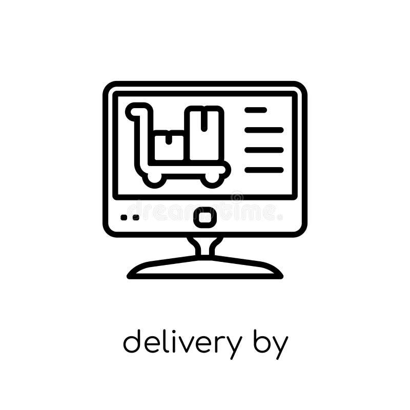 La livraison par l'icône de site Web de la livraison et de la collection logistique illustration de vecteur