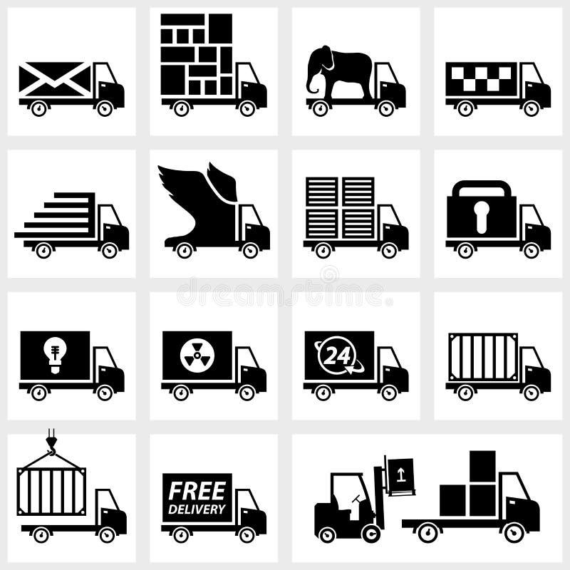La livraison réglée d'icône de vecteur illustration stock