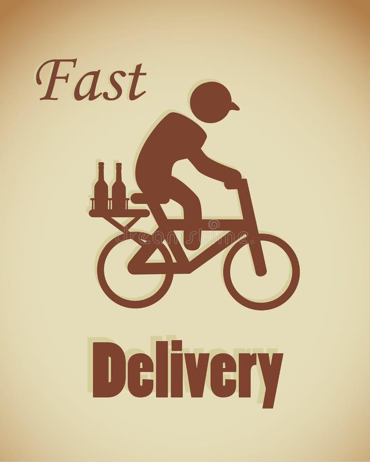 La livraison rapide illustration de vecteur