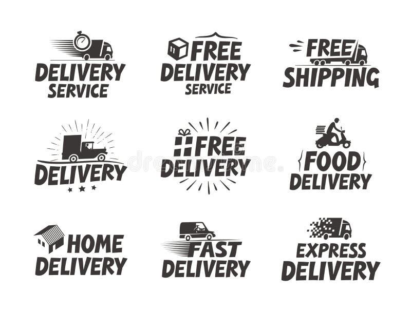 La livraison rapide, a placé des icônes Symbole gratuit d'expédition Illustration de vecteur illustration de vecteur