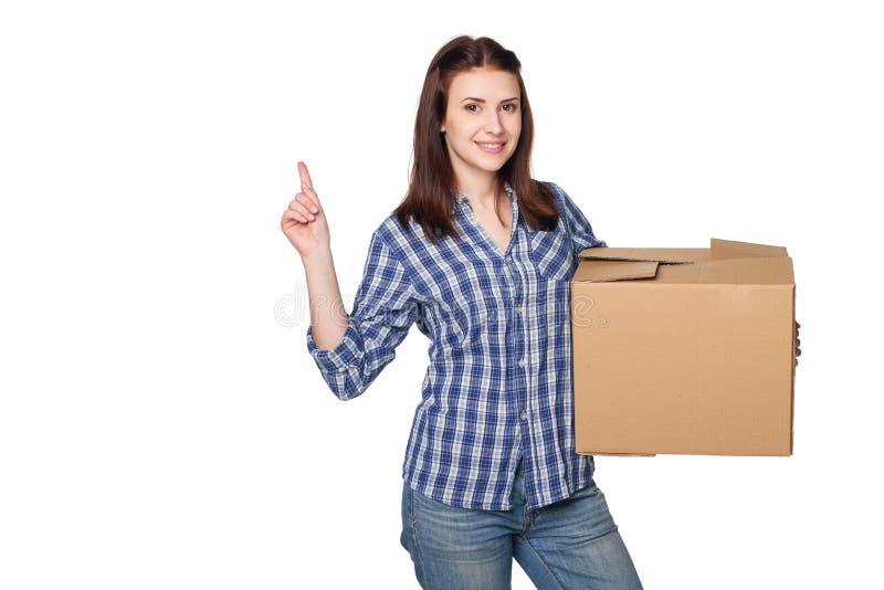 La livraison, relocalisation et concept de déballage images libres de droits