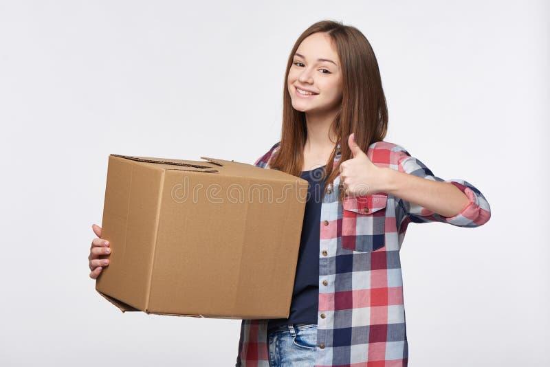 La livraison, relocalisation et déballage photo stock