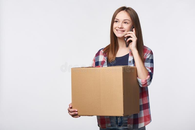 La livraison, relocalisation et déballage photos libres de droits