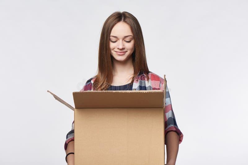 La livraison, relocalisation et déballage images libres de droits