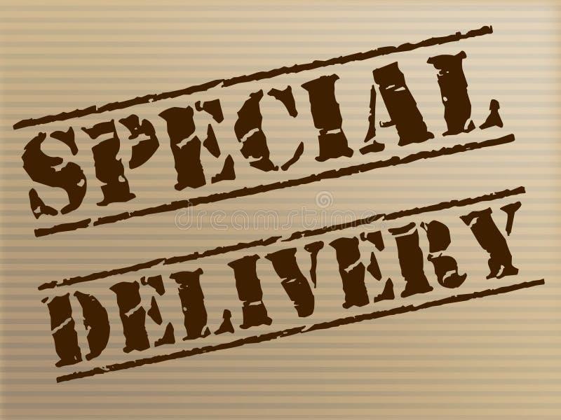 La livraison spéciale signifie le messager notable And Unique illustration libre de droits