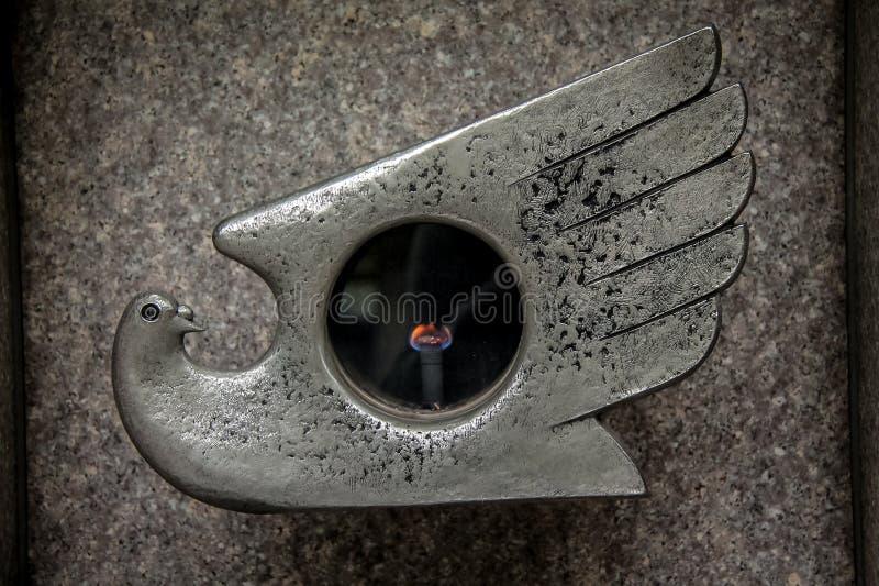 La llama de Hiroshima y de Nagasaki, monumento de la bomba atómica - Tokio, Japón imágenes de archivo libres de regalías