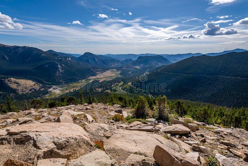 La llamada de Rocky Mountain National Park fotografía de archivo
