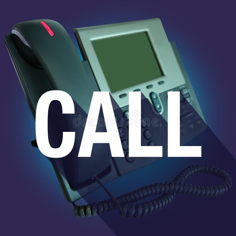 La llamada nos entra en contacto con ayuda larga de la ayuda de la palabra de la sombra del teléfono libre illustration