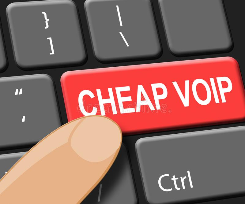 La llave barata de Voip muestra el ejemplo de la voz 3d de Internet libre illustration