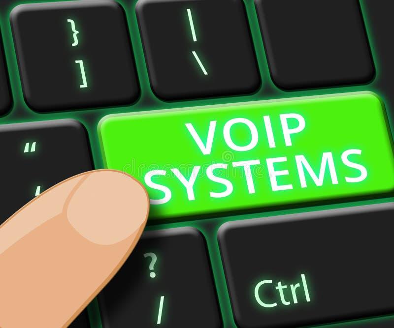 La llave de sistemas de Voip muestra el ejemplo de la voz 3d de Internet libre illustration