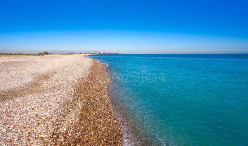 La Llosa海滩在西班牙的卡斯特利翁省 免版税图库摄影