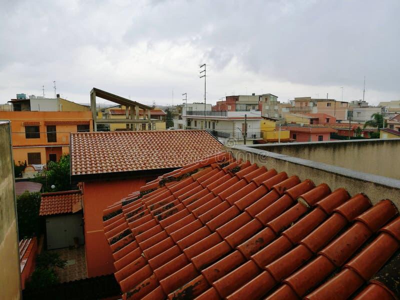 La lluvia está viniendo imagen de archivo
