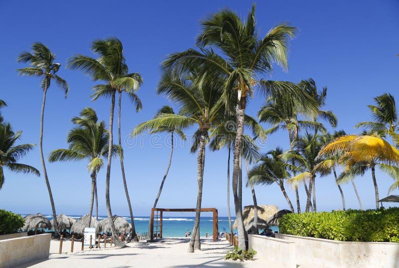La località di soggiorno inclusiva ed il casinò di Royalton situati al Bavaro tirano in Punta Cana fotografia stock libera da diritti