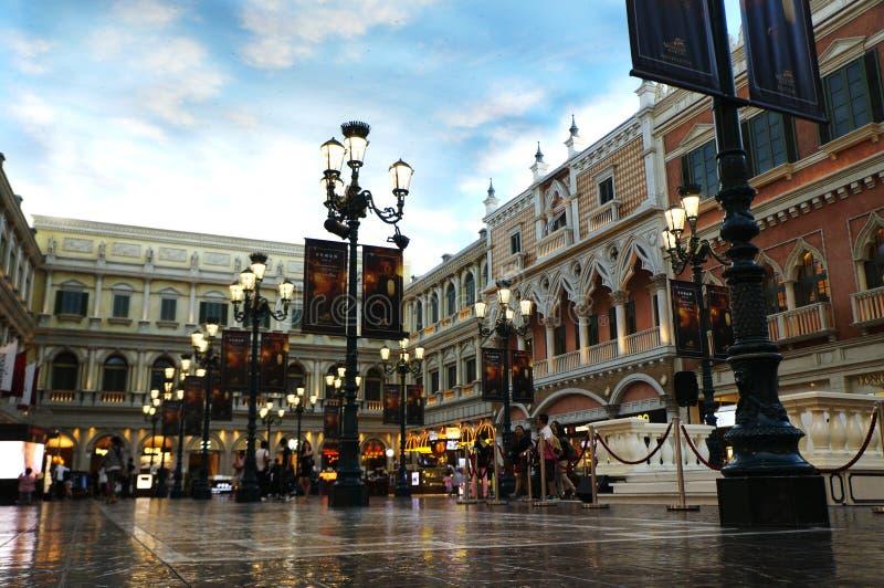 La località di soggiorno veneziana di Macao fotografie stock libere da diritti