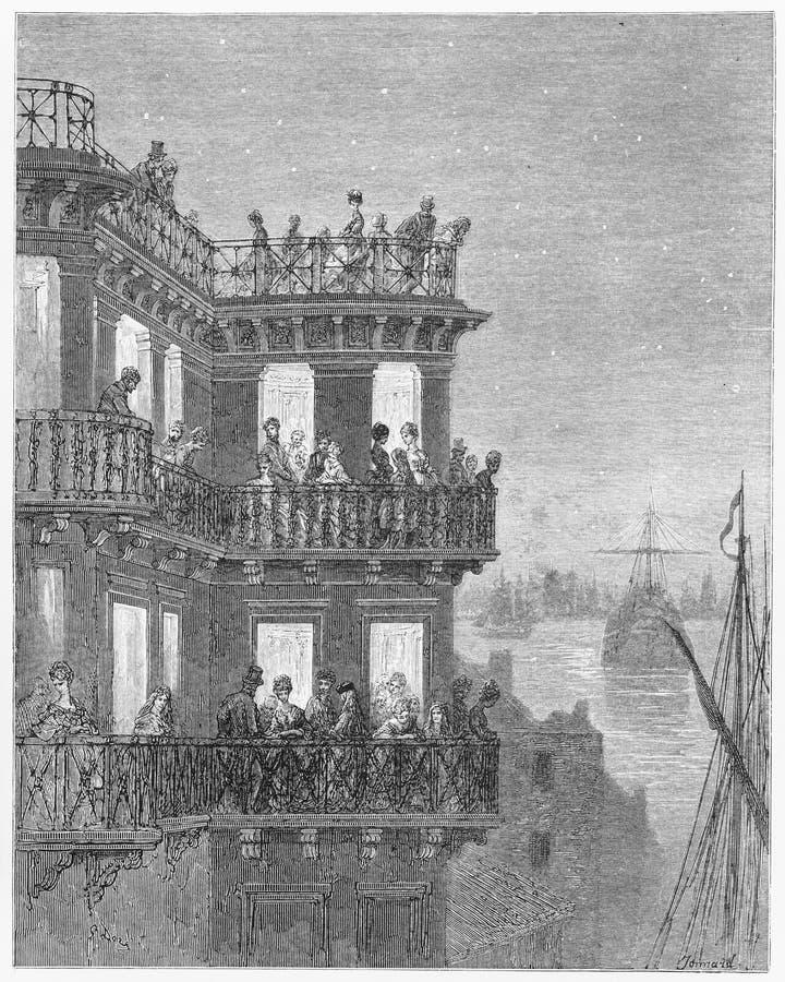 La locanda della nave, lungofiume Greenwich illustrazione vettoriale
