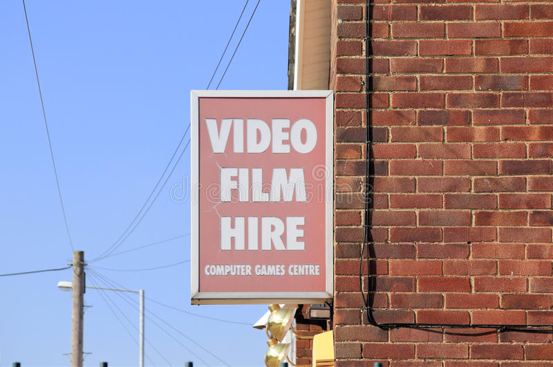 La location visuelle de film se connectent le mur image libre de droits
