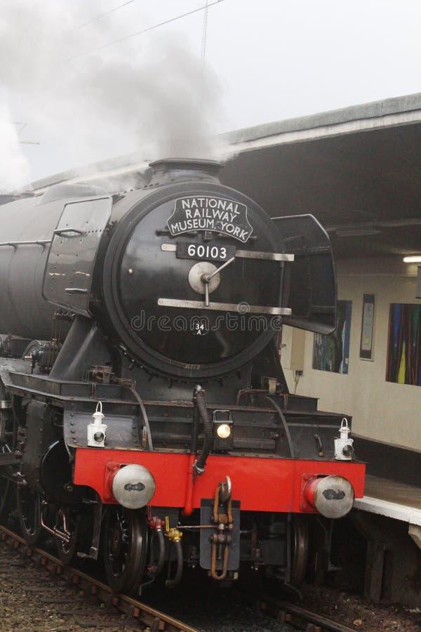 La locomotive à vapeur de Scotsman de vol se piquent dessus l'essai photo stock