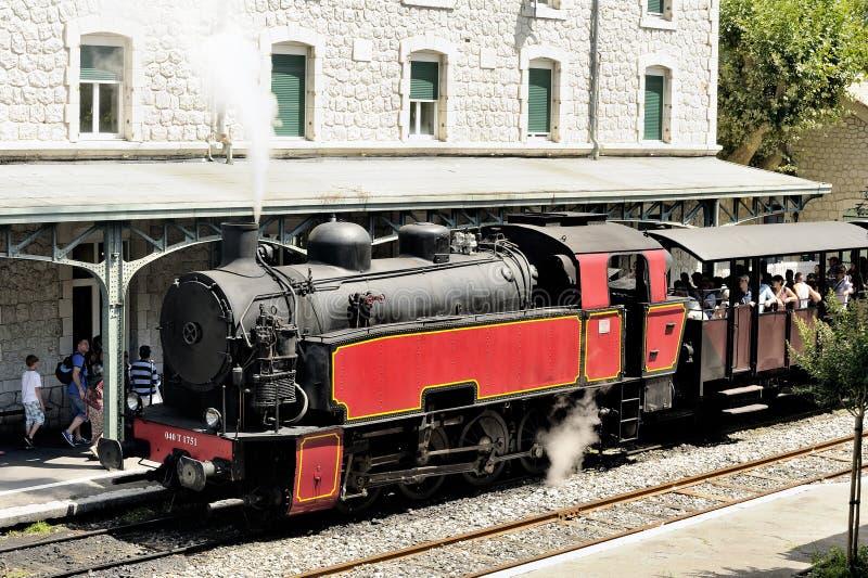La locomotora de vapor imagen de archivo libre de regalías