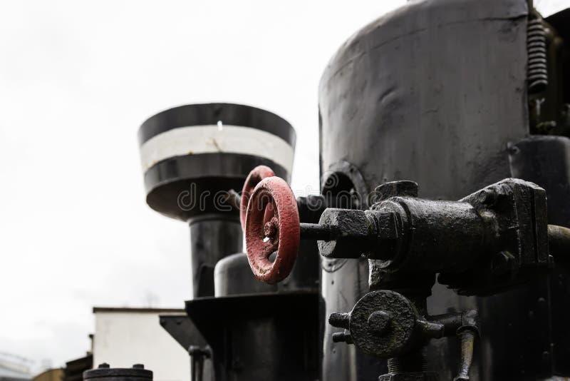 La locomotora de vapor fotografía de archivo
