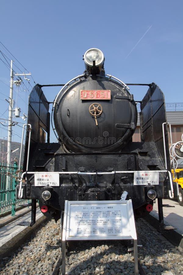 la locomotora de vapor en Kyoto en Japón foto de archivo libre de regalías