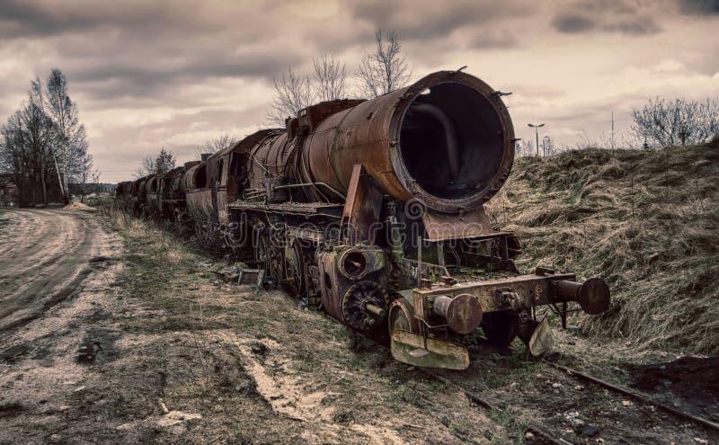 La locomotora vieja fotos de archivo libres de regalías