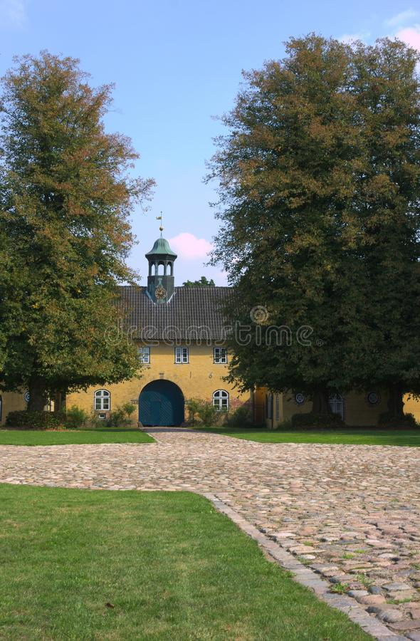 La loge du portier - II - Jersbek - l'Allemagne image libre de droits