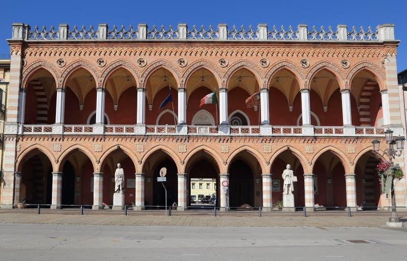 La Loggia Amulea en Padova, Italia foto de archivo libre de regalías