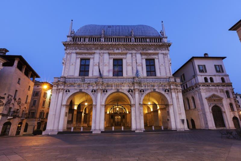 La-Loggia (Rathaus) in Brescia, stockfotos