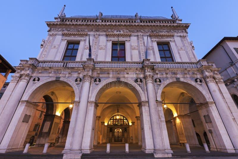 La-Loggia (Rathaus) in Brescia stockfoto