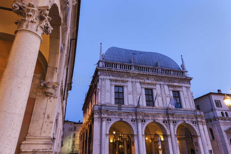 La-Loggia (Rathaus) in Brescia, lizenzfreie stockbilder