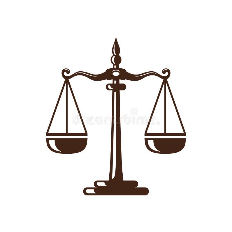 La loi et le logo de mandataire, la loi élégante et le logo ferme de vecteur de mandataire conçoivent illustration libre de droits