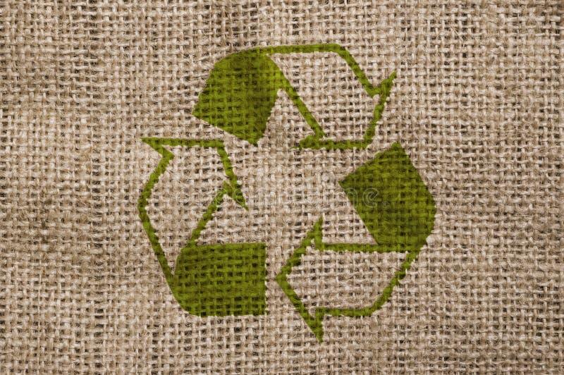 La lona áspera con recicla la muestra. imagen de archivo libre de regalías