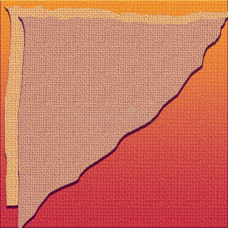 La lona texturiz? el papel digital Hoja acodada apenada Textura de la arpillera Papel que hace a mano que acoda multi rasgado libre illustration