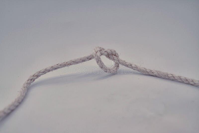 La longue corde avec la boucle images libres de droits