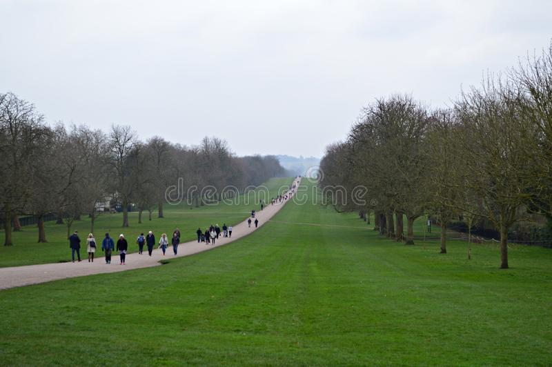 La longue promenade en Windsor Berkshire R-U photographie stock libre de droits
