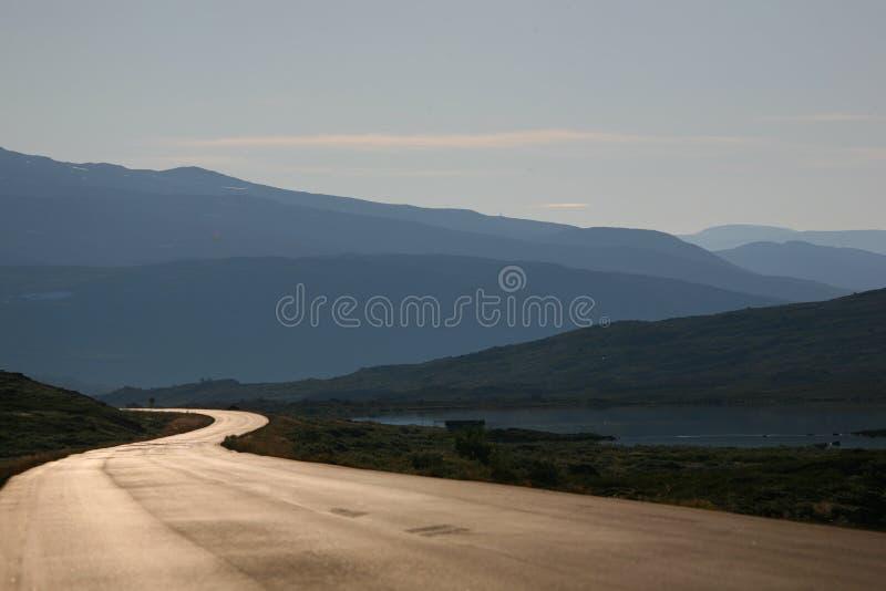 La longue route 2 images libres de droits