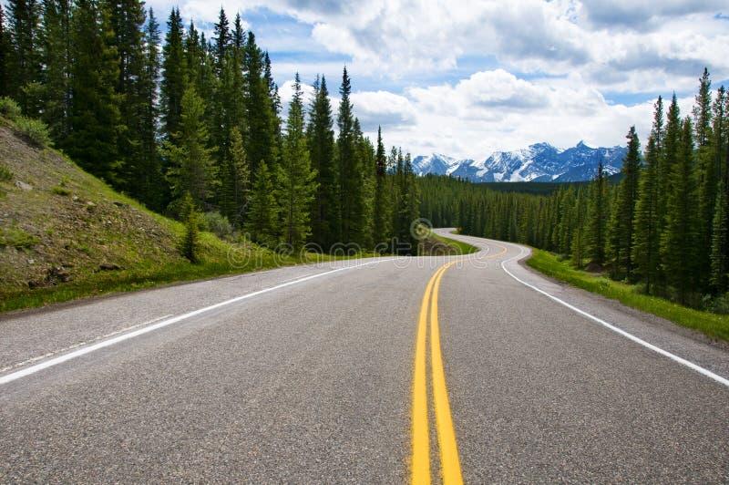 La longue route image stock